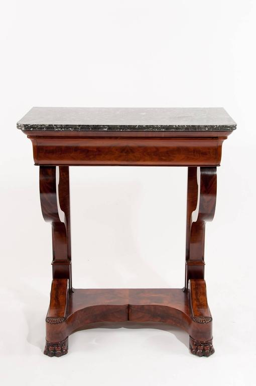 French louis philippe mahogany console table at 1stdibs for Table 6 pieds louis philippe