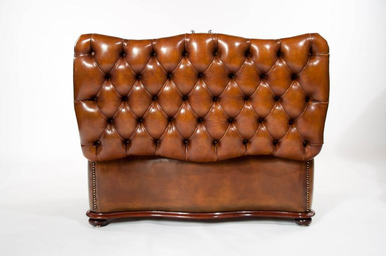 Excellent 19th Century Shaped Leather Ottoman At 1stdibs