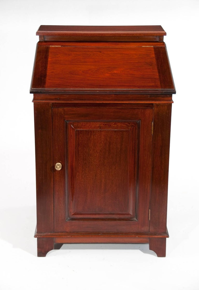 English Antique Mahogany Davenport Writing Desk For Sale