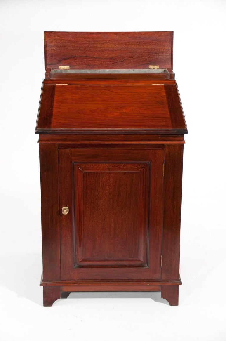 Antique Mahogany Davenport Writing Desk In Excellent Condition For Sale In Benington, Herts