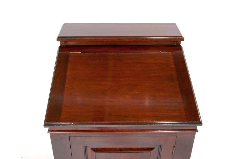 Antique Mahogany Davenport Writing Desk For Sale 1