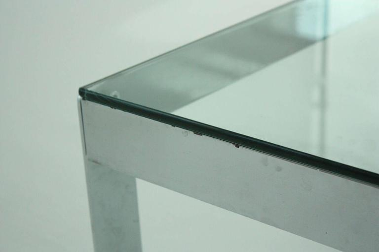 Modern Chrome and Glass Coffee Table Attributed to Willy Rizzo, circa 1970 6