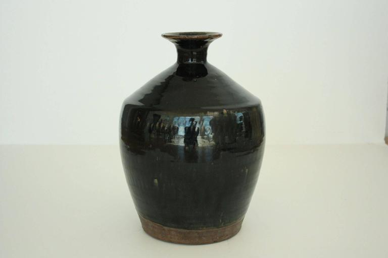 Ceramic Blue Lava Glazed German Vase 3