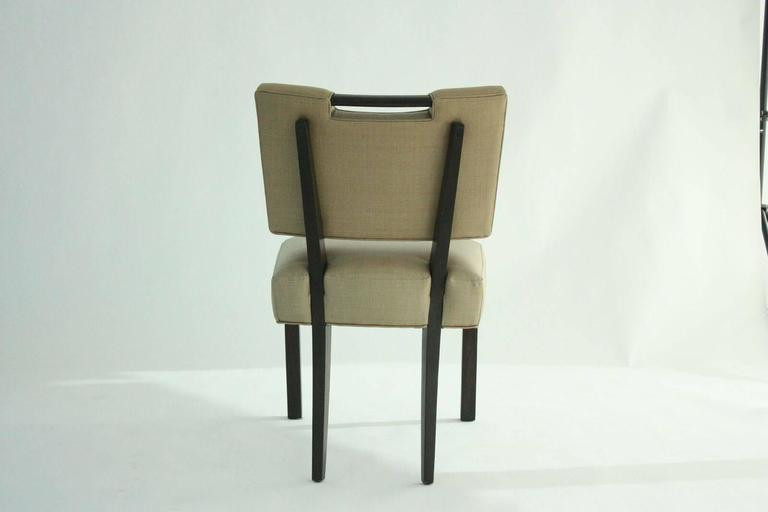 Mahogany Modern Paul Laszlo Dining Chairs, Set of 8.   For Sale