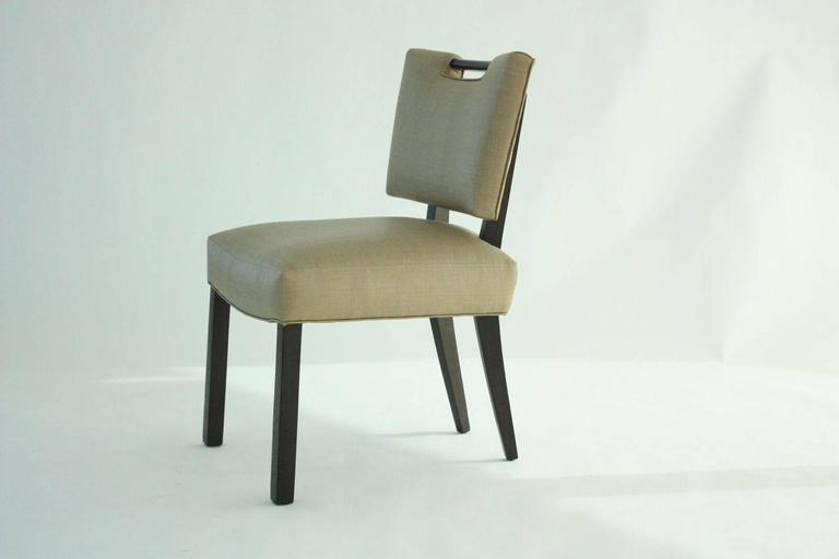 American Modern Paul Laszlo Dining Chairs, Set of 8.   For Sale