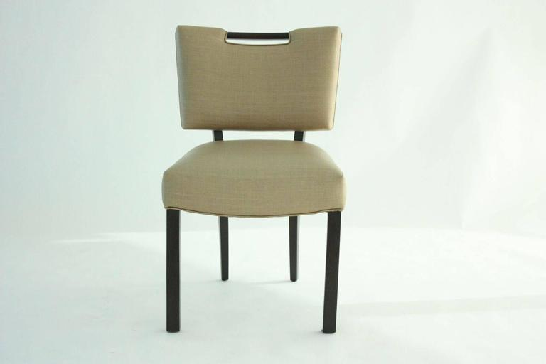 Modern Paul Laszlo Dining Chairs, Set of 8.   In Excellent Condition For Sale In Dallas, TX