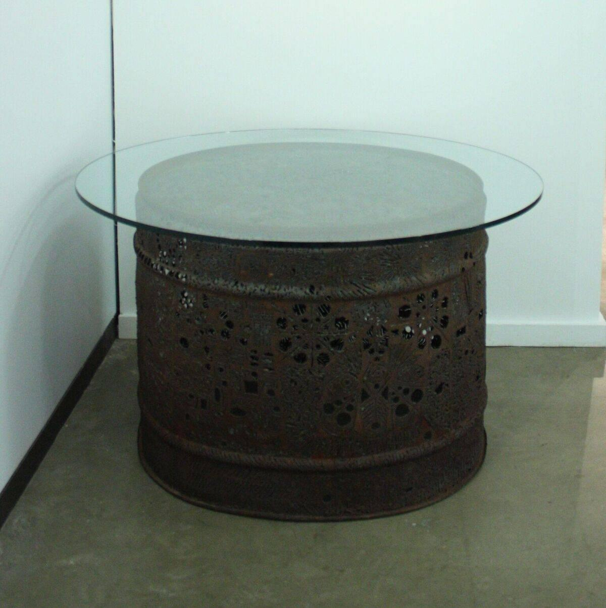 Steel Drum Table By Chuck Phillips For Sale At 1stdibs