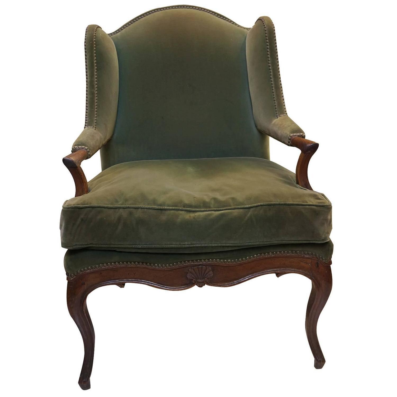 Louis Xv Walnut Bergere D 39 Oreille Chair Circa 1750 At 1stdibs