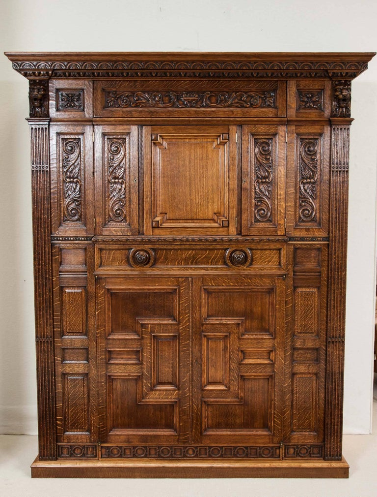 Oak Billiards Cabinet by Thurston & Co. of London For Sale 5