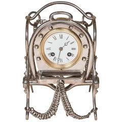 Clock with Equestrian Motifs by Japy Frères of Beaucourt, France