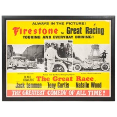 """Great Race Film Poster """"The Greatest Comedy of All Time"""""""