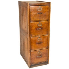 """Oak Filing Cabinet with the """"GVR"""" Cipher of King George V"""