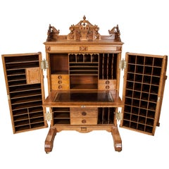 Wooton's Patent Oak Cabinet Desk, by the Wooton Desk Co, Indianapolis, Indiana