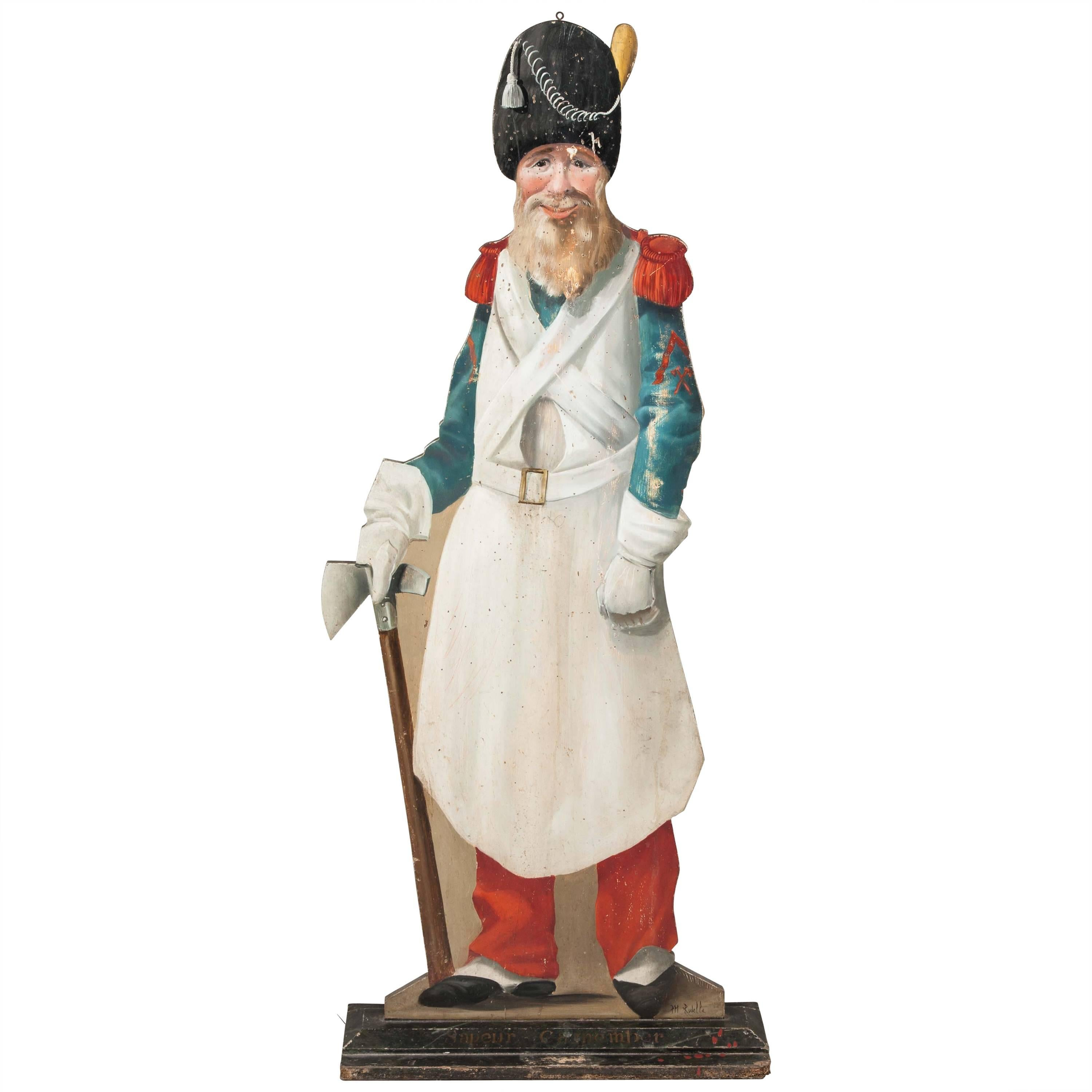 Painted Figure of the Late 19th Century Cartoon Character Sapeur Camember