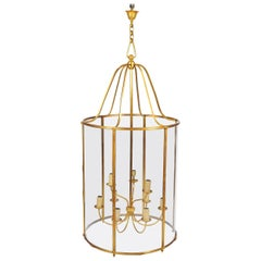 Grand Scale Gilt Bronze Lantern by Atelier Petitot of Paris
