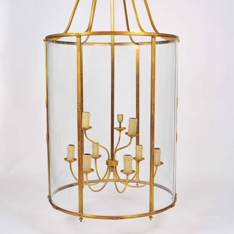 French Grand Scale Gilt Bronze Lantern by Atelier Petitot of Paris For Sale