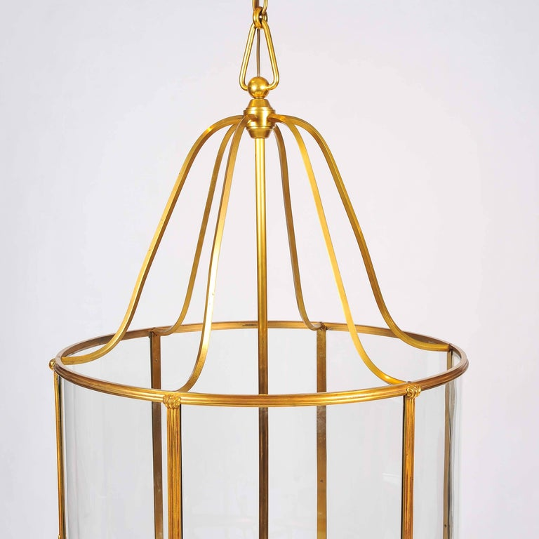 Grand Scale Gilt Bronze Lantern by Atelier Petitot of Paris In Good Condition For Sale In London, GB