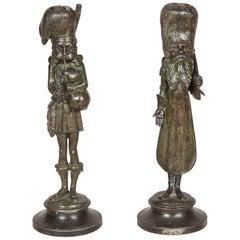 Bagpiper & Cossack Candlesticks