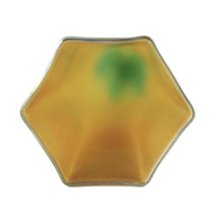Early 20th Century Tiffany & Co Favrile Glass Bud Vase with Bronze Base For Sale 2