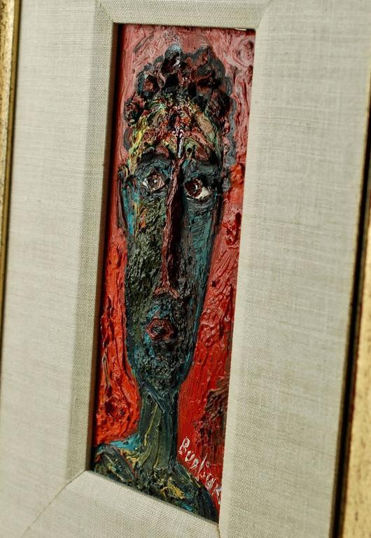 20th Century David Burliuk Neo-Primitive Portrait For Sale 1