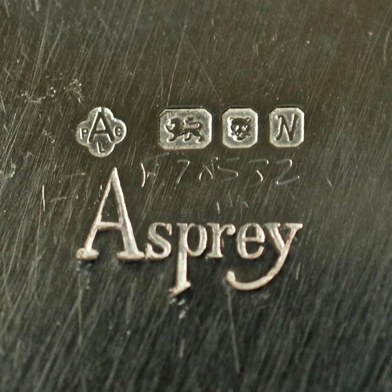 Asprey & Co Sterling Silver Cased Swan Motif Menu Place Card Holders Set of 12 For Sale 2