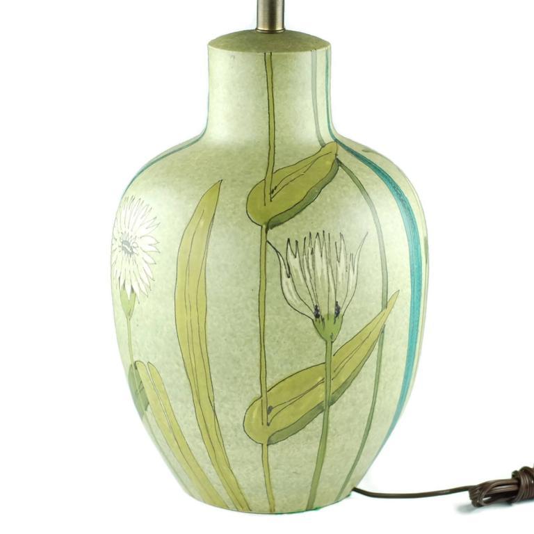 Mid Century Alvino Bagni For Raymor Ceramic Table Lamp At
