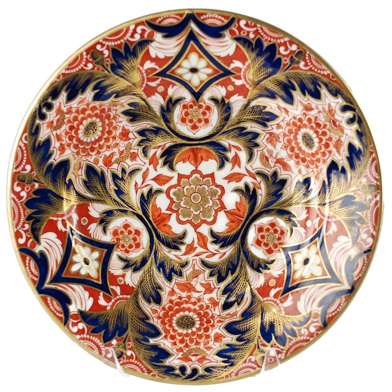 Early 19th Century English Derby Imari Japan Pattern Plates For Sale 1