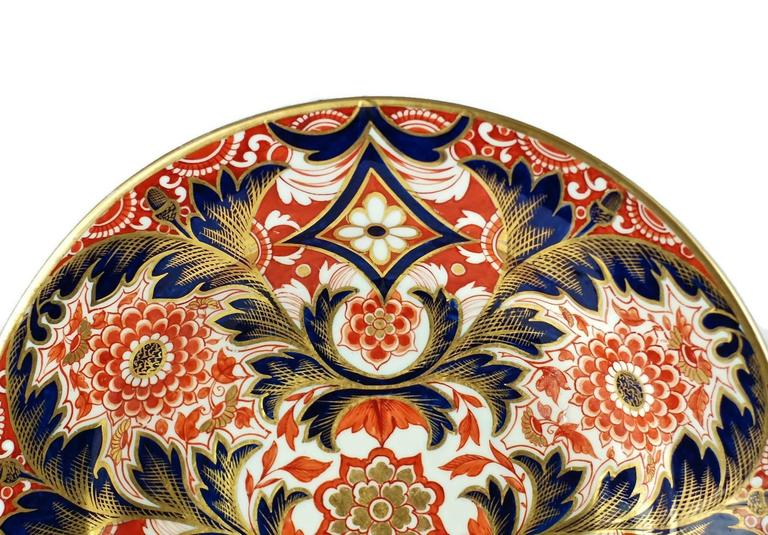 Anglo-Japanese Early 19th Century English Derby Imari Japan Pattern Plates For Sale