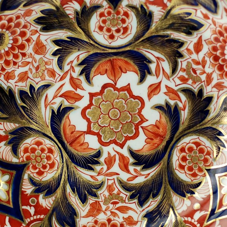 Early 19th Century English Derby Imari Japan Pattern Plates For Sale 2