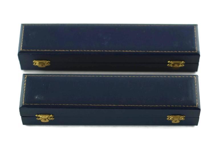 Asprey & Co Sterling Silver Cased Swan Motif Menu Place Card Holders Set of 12 For Sale 3