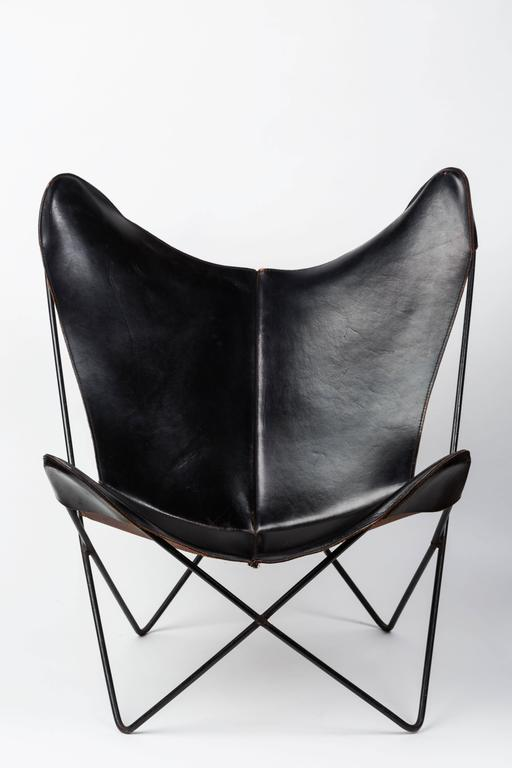 Leather Butterfly Chair by Jorge FerrariHardoy for Knoll For Sale – White Leather Butterfly Chair