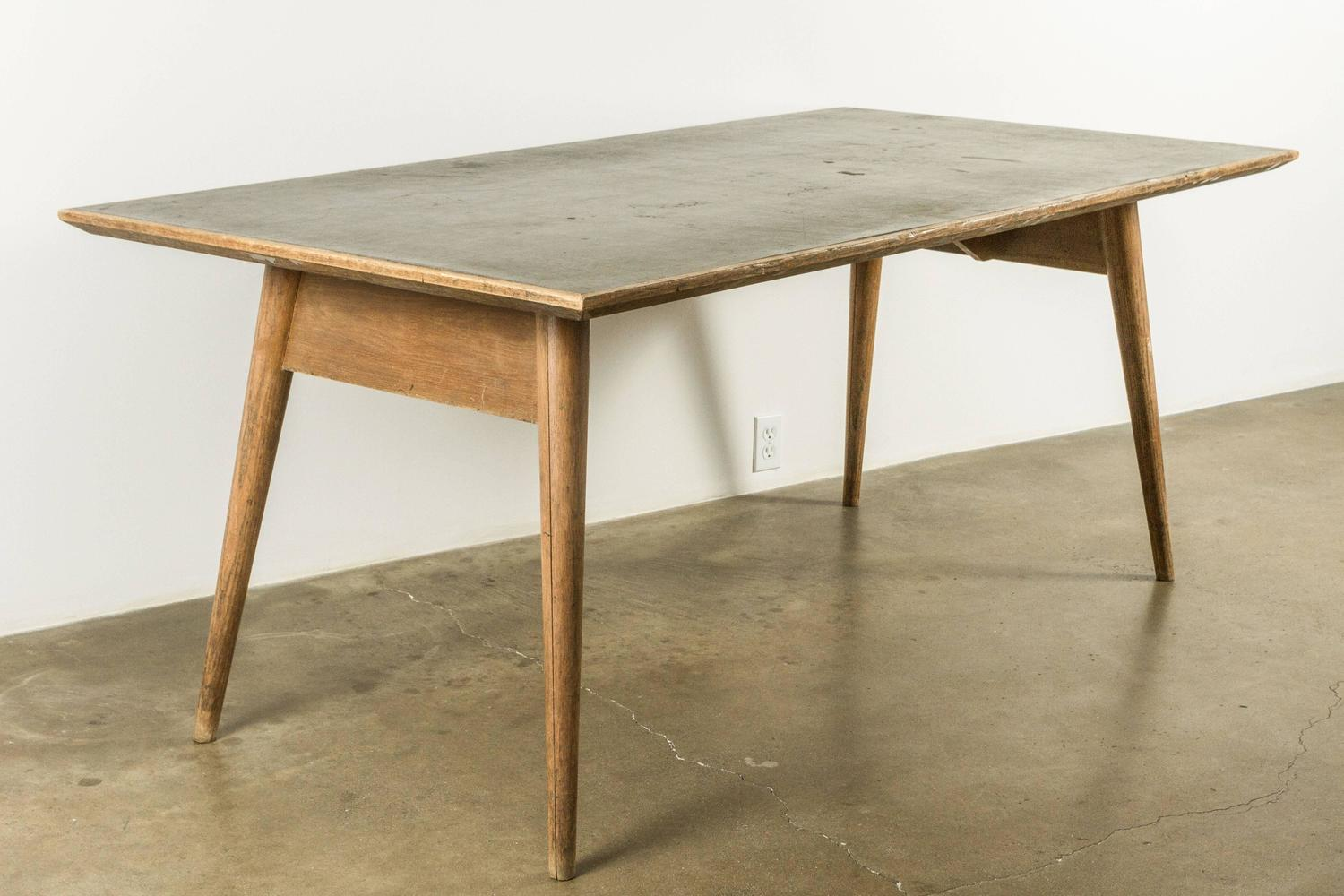 Modernist french wood and laminate dining table for sale for Most beautiful dining room tables