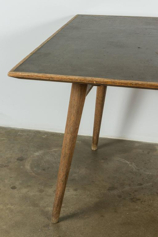 Modernist French Wood And Laminate Dining Table At 1stdibs
