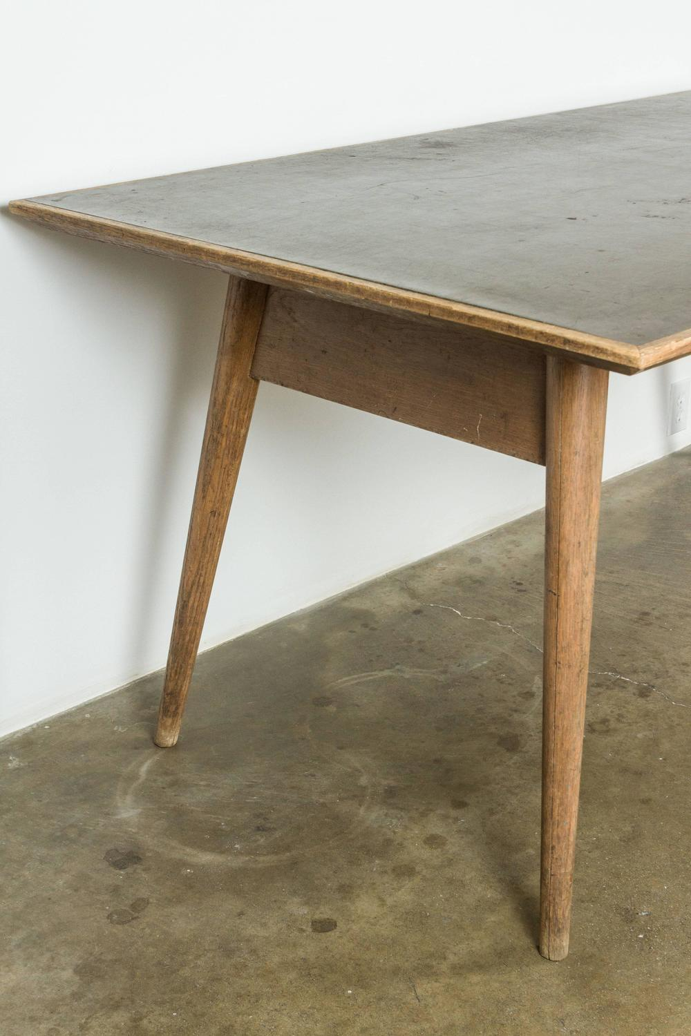 Modernist French Wood And Laminate Dining Table For Sale