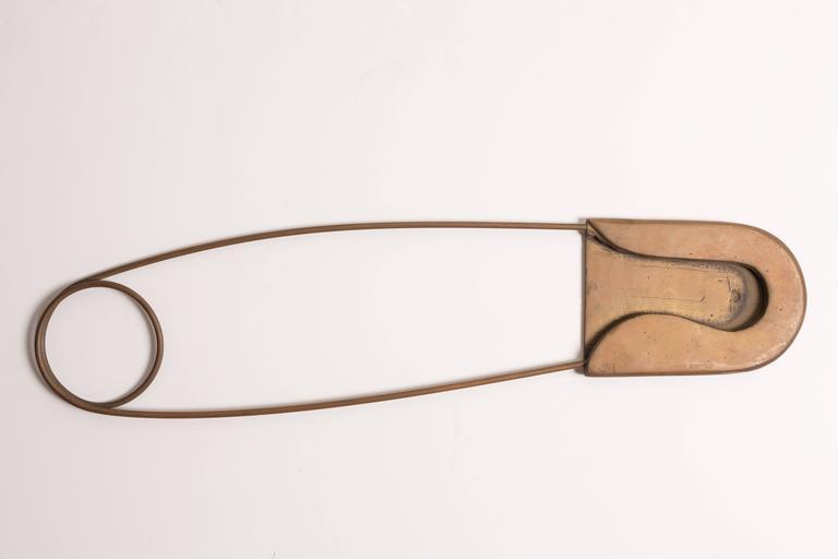 Oversize Brass Safety Pin And Sewing Needle At 1stdibs