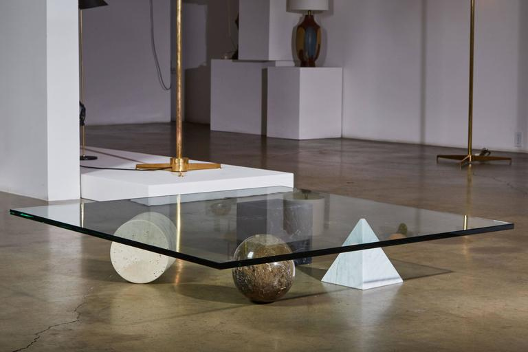"""Marble """"Metaphora"""" Coffee Table by Massimo and Leila Vignelli 3"""