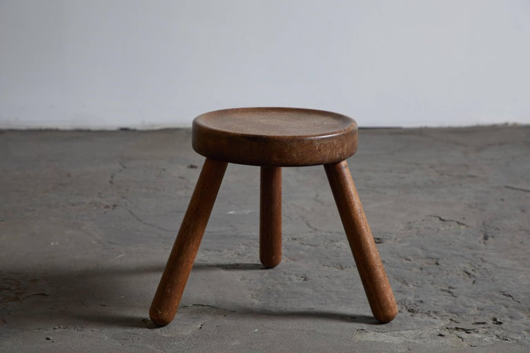 Pair of Wood Tripod Stools 5