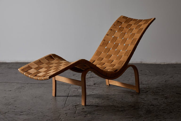 Early Chaise Lounge by Bruno Mathsson For Sale 3