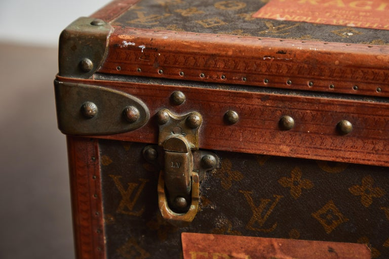 Mid-20th Century Early LV Monogram Suitcase by Louis Vuitton For Sale