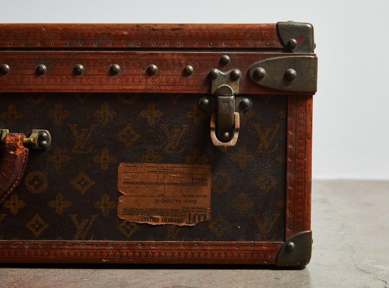 Brass Early LV Monogram Suitcase by Louis Vuitton For Sale