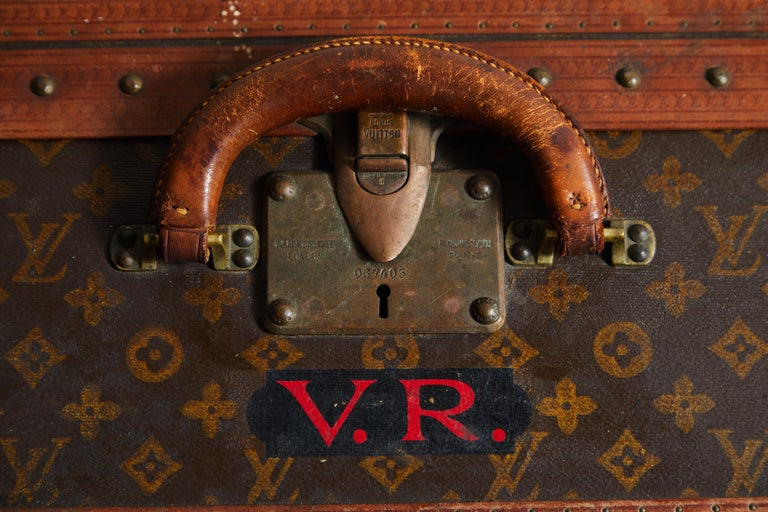 Early LV Monogram Suitcase by Louis Vuitton For Sale 3