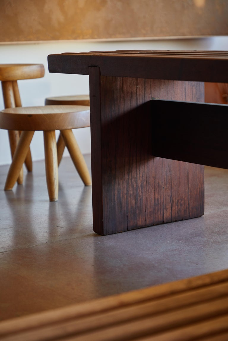 Wood Bench by Lino Bo Bardi For Sale