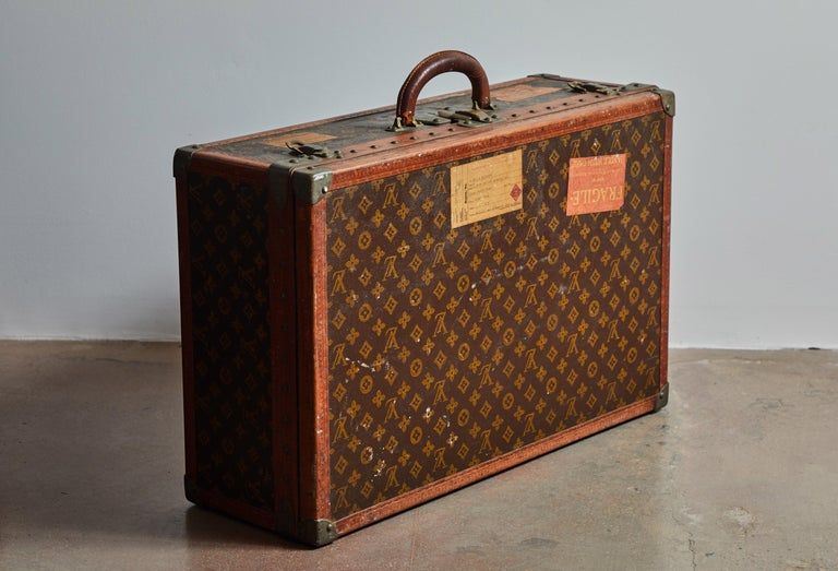 French Early LV Monogram Suitcase by Louis Vuitton For Sale