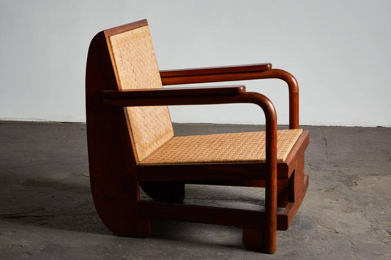 Mid-20th Century Pair of Lounge Chairs in the Manner of Ilonka Karasz For Sale