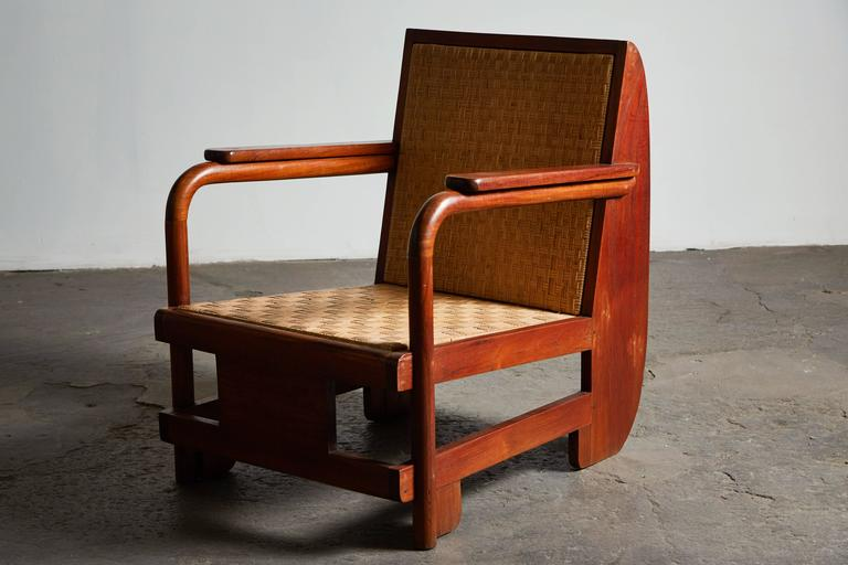 Pair of Lounge Chairs in the Manner of Ilonka Karasz In Excellent Condition For Sale In Los Angeles, CA