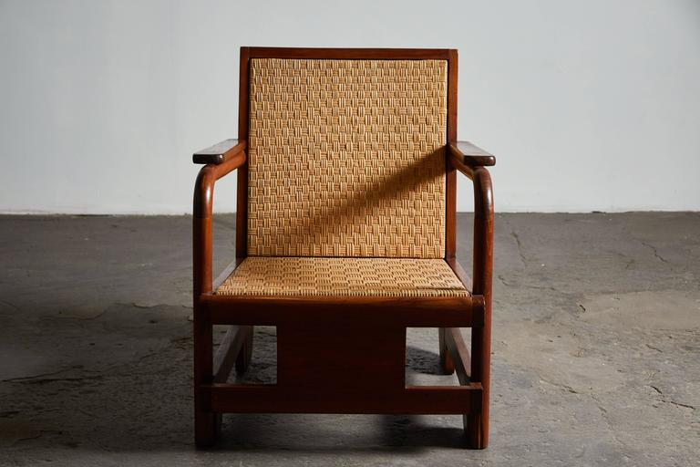 Cane Pair of Lounge Chairs in the Manner of Ilonka Karasz For Sale