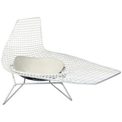 Harry Bertoia Knoll Asymmetric Sculptural Wire Chaise Longue