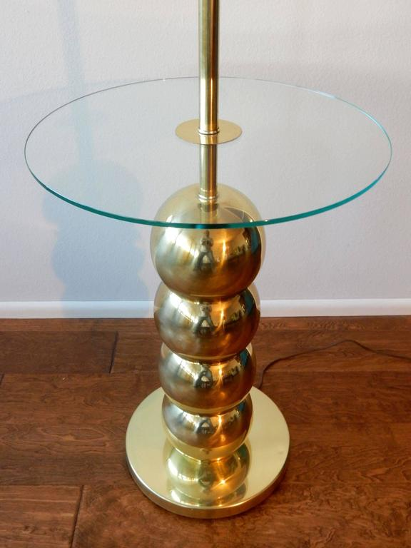 modern george kovacs stacked brass ball floor lamp table for sale at. Black Bedroom Furniture Sets. Home Design Ideas
