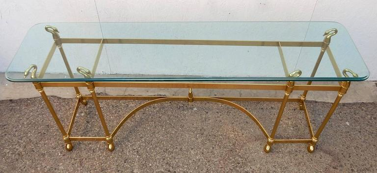 a9 l Labarge Brass And Glass Coffee Table