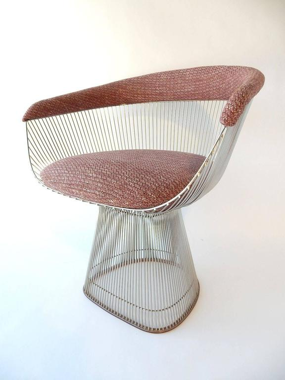 Mid-Century Modern Warren Platner for Knoll Chrome Dining Chairs In Excellent Condition For Sale In Las Vegas, NV